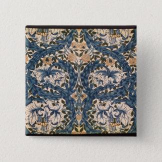 African Marigold' design, 1876 Pinback Button