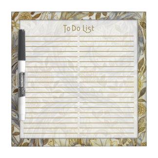 African Marigold To Do List - Eraser Board Dry-Erase Whiteboard