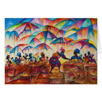 African Marketplace II Note Card
