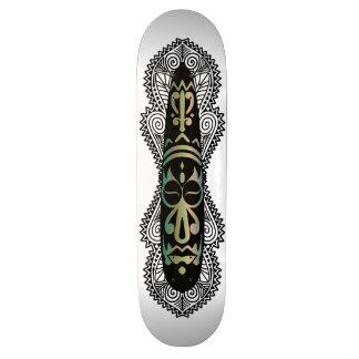 African Mask & Artwork 2 - Skateboard