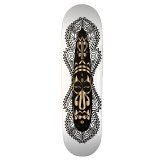 African Mask & Artwork 5 - Skateboard