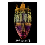 AFRICAN-MASK by manda Greeting Cards