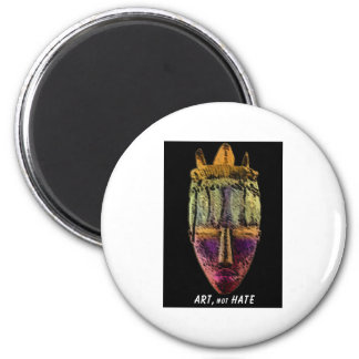 AFRICAN-MASK by manda 2 Inch Round Magnet