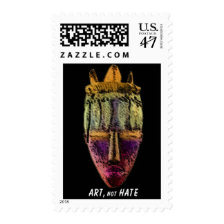 AFRICAN-MASK by manda Postage