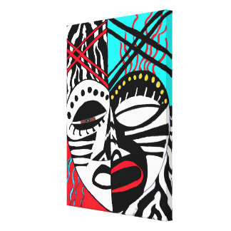 African Mask Canvas Prints