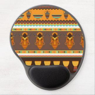 African Mask Drum Pattern Print Design Gel Mouse Pad