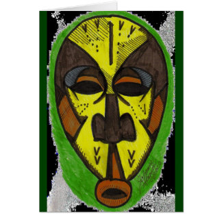 African Mask Greeting Card