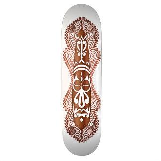 African Mask in Wood Grain - 5 - Skateboard