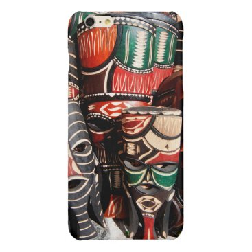 African mask glossy iPhone 6 plus case