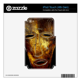 African mask iPod touch 4G decals