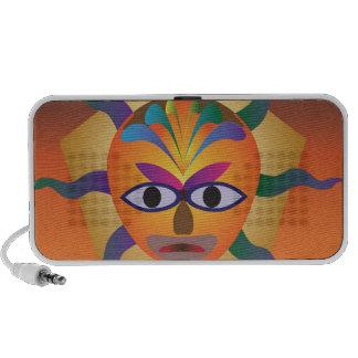 African Mask Laptop Speakers