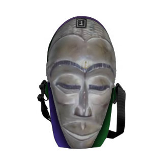 African Mask Courier Bag