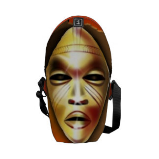 African Mask Courier Bags