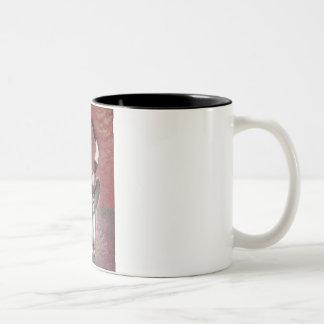 African mask mug