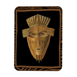 African Mask Painting by Chariklia Zarris Rectangular Photo Magnet