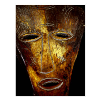 African mask postcard