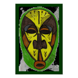 African Mask Poster