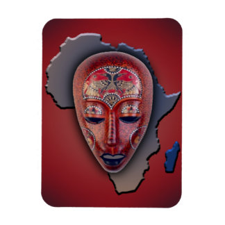 African Mask Rectangular Photo Magnet