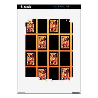 african mask print  2.jpg skin for the iPad 2