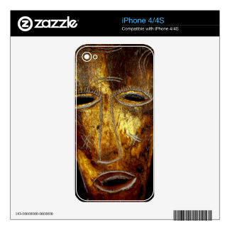 African mask iPhone 4S decals