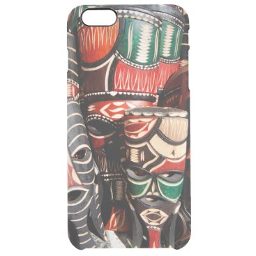African mask clear iPhone 6 plus case