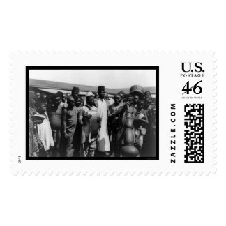African Men with Musical Instruments Kenya 1907 Postage