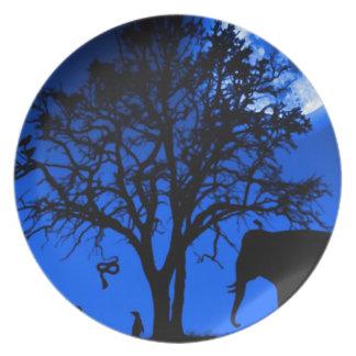 African Midnight Melamine Plate