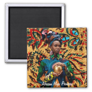 African Mojo Princess 2 Inch Square Magnet