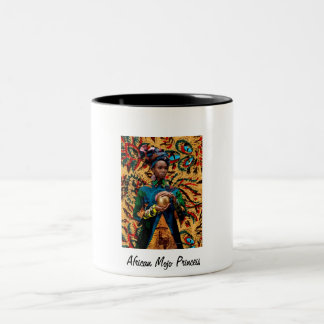African Mojo Princess Two-Tone Coffee Mug