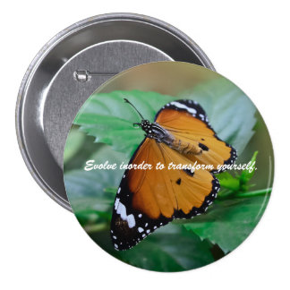 African monarch butterfly inspiration quote button