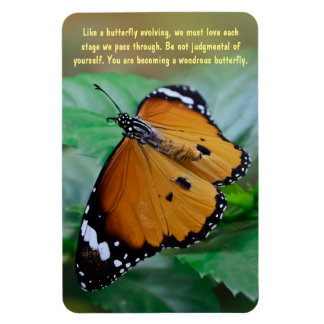 African monarch butterfly inspiration quote magnet