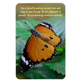 African monarch butterfly inspiration quote rectangular photo magnet