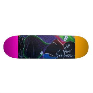 African Moon in Digital Water Skate Board