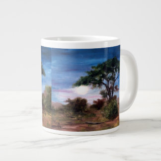 African Moon Large Coffee Mug