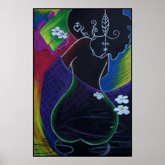 African Moon - Miami Deco Print
