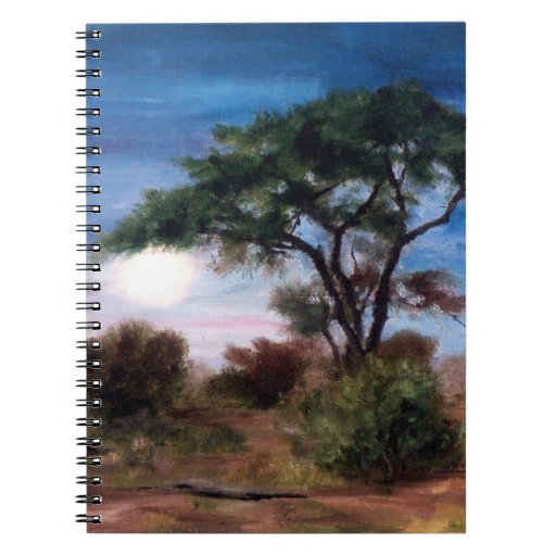 African Moon Notebook