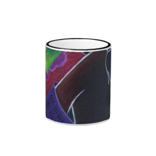 African Moon VI Ringer Mug