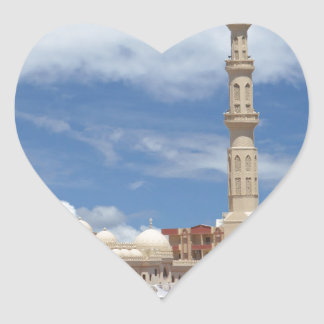 african mosque heart sticker
