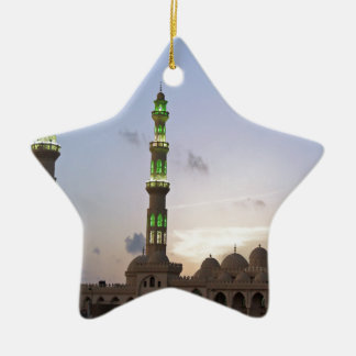 african mosque Double-Sided star ceramic christmas ornament