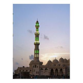 african mosque postcard