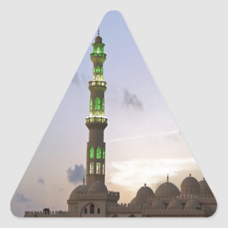 african mosque triangle sticker