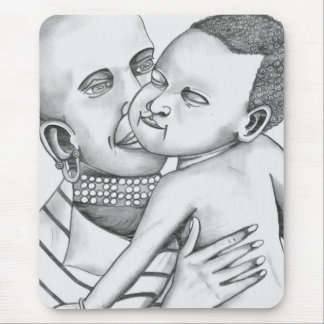 African Mother and Child (Kimberly Turnbull Art) Mouse Pad