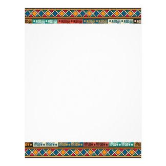 African Motif Colorful Decorative Pattern Design Letterhead