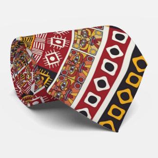 African Motif Colorful Decorative Pattern Design Neck Tie