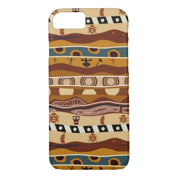 Aztec Themed African Motifs Ethnic Art Earth Tone iPhone 8/7 Case