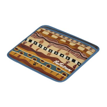 Aztec Themed African Motifs Ethnic Art Earth Tone Personalized MacBook Air Sleeve