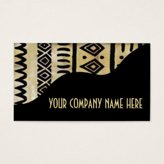 African Mud Cloth Afrocentric Kenyan Imports Business Card