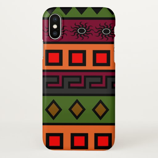 African mud cloth pattern iPhone x case