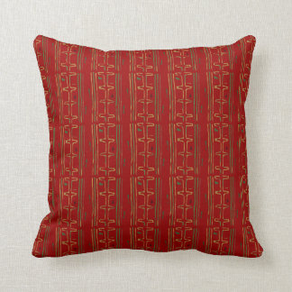 African Mud Cloth Pattern Throw Pillow