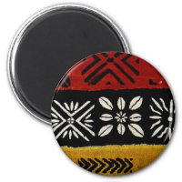 African mud cloth print magnet